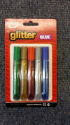 Supreme Stationery 5 x 13grm Glitter Glue Pens