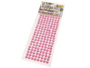 152 Crystal Rhinestone Gems Beads 6 mm Self Adhesive Decorative Coloured Stones, Cards, Available in a Range of Colours Pink.