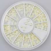 200pc Rhinestone 3D Nail Art - Beige Colour Pearls