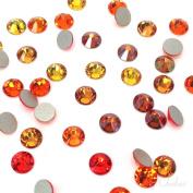 144 2058 / 2088 crystal flat backs No-Hotfix rhinestones ORANGE & COPPER Colours Mix ss16 (3.9mm . from Mychobos (Crystal-Wholesale)**
