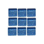 MosaixPro 10 x 10 x 4 mm 200 g 215-Piece Glass Glitter Tiles, Blue