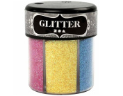 6 Colour Fine Glitter Shaker for Crafts - Pastels | Craft Glitter
