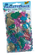 Folia 2509 Sequins and Confetti Mix – Assorted Shapes, 50 g, Assorted, Multi-Colour