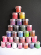 28 x 19g Pots of Soft Magic Craft Sprinkes for Cardmaking Scrapbooking AM441