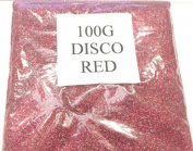 100G DISCO RED GLITTER NAIL ART CRAFT FLORISTRY WINE GLASS