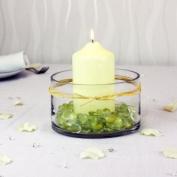 Cream Glitter Glass Nuggets