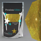100G HOLOGRAPHIC GOLD GLITTER ULTRA FINE WINE GLASS ART AND CRAFT NAIL ART SCRAPBOOKING NON TOXIC