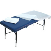 Laundry Faserlaken Pro, White, Rip-Proof Professional Quality, Hygiene Cushion for Massage Table, 50gsm 80 x 200 mm