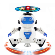 Electronic Musical Robot Toys, BURFLY Walking Dancing Smart Space Robot Astronaut Toys, Kids Music Light for Over 5 Years Old Baby Boys Girls Toys Gifts
