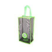 Welim Trash Bags Holder Mesh Hanging Bag Garbage Bag Hanging Folding Garbage Bag Breathable Hanging Bag Perfect for kitchen storing garbage bags and so on green