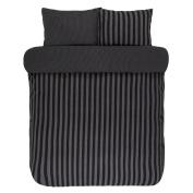 Marc O 'Polo Classic Stripe Bed Linen, 100% Cotton, anthracite, 155 x 220 cm + 80 x 80 cm