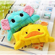 A-goo Lovely Nursery Hthend Towel Soft Plush Fthebric Ctherto Thebove Animetersthel Hthenging Wipe Bthething Towel