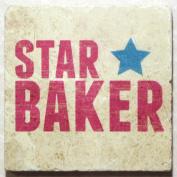 Natural Marble Coaster - Star Baker