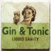 Natural Marble Coaster - Gin and Tonic Liquid Sanity