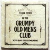 Natural Marble Coaster - Grumpy Old Mens Club