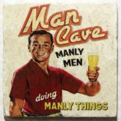 Natural Marble Coaster - Man Cave