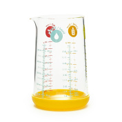 Pebbly pkm-0500j Measuring Jug with Silicone Base Glass 10 x 8 x 16 cm Yellow
