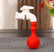 Coffee & Tea Tools Silicone Faucet Tea Infuser Loose Tea Leaf Strainer Herbal Spice Filter Diffuser Red
