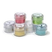 Silhouette Glitter Pots in 6 Essential Colours - Pink, Green, White, Silver, Teal and Gold