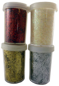 20g Fleck Glitter In Tub - Christmas Card Making - Arts And Crafts - 1 Chosen At Random