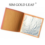 Pure 999/1000 Real Silver Leaf 25 Sheets Professional Quality Food, 110 x 110 mm