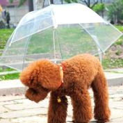 PriMI Transparent Waterproof Pet Umbrella Raincoat With Leash