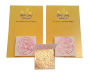 24ct Pure Edible Gold Leaf   100% Genuine Real 15 sheets
