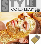 20 x Gold Leaf Leaves 24K Carat PURE 99.9% for SPA Facial Mask Anti Ageing Anti Wrinkle 3.5x3.5cm