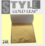 """StyleGold 50X Gold Leaf Leaves on Base 24K Gilding Framing Artist Design & 1.96""""x1.96"""" or 50mmX50mm"""