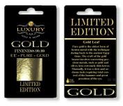 (E175) edible 24ct genuine 10 sheets gold leaf 30mm x 30mm edible