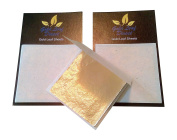 Gold Leaf Sheets 24CT scrap Design Art Craft Genuine Two packs.
