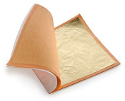 Imitation Gold Leaf Sheets 140mmx140mm Craft Book of 25 sheets