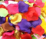 1000pcs Mix Colour (10 Colours) Silk Rose Petals Lapis Deep Artificial Flower Wedding Party Vase Decor Bridal Shower Favour Centrepieces Confetti