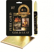 Adhesive size leafing Pen kit with 10 gold Leaf Sheets arts craft lettering