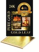LARGE 8CM Gold Leaf 10 sheets Gilding - 10 Gold sheets