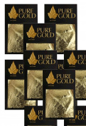 24ct Gold leaf Gilding - 100 Gold sheets, 4.5cm x 4.5cm