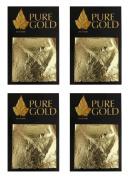 24CT Gold leaf Gilding - 40 Gold sheets, 4.5cm x 4.5cm 4 packs of 10