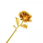 Denshine 25cm Long Stem 24k Gold Foil Rose Flowers Forever Love