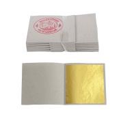 100 Gold Leaf Leaves Sheets on Base for Gilding , Design & Art