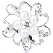Cheap4uk Rhinestone Faux Pearl Flower Design Brooch Wedding Bridal Pin Brooch Cake Shoe Decor For Women's Ladies