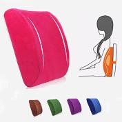 Bazaar Elastic Band Plush Memory Office Chair Cushion Lumbar Back Pillow