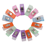 Plastic Sewing Craft Quilt Binding Clips Clamps Pack of Approx.50 Assorted Colours