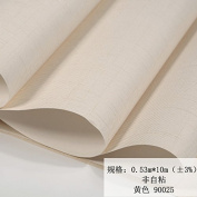 BABYQUEEN Minimalist Modern Solid Colour Non-Woven Cloth Wallpaper Living Room Bedroom Office Wallpaper Yellow 0.53*10m