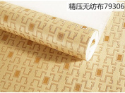 BABYQUEEN Modern And Minimalist Chinese Small Grid Wallpaper Non-Woven Cloth Bedroom Living Room Study Corridor Background Wall Papers Classic Light Colour Coffee 0.53*10m