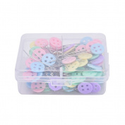 SQingYu 100 pcs Button Kind Cute Sewing Pins Kits, Quilting Patchwork Sewing Accessories Tools