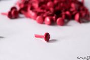 100 x Colour Paper Fasteners Green Pink Blue Split Pins Binding Office VAT