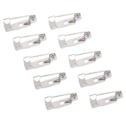 50pcs Brooch Pins S. reté 15 mm Pins Pins for DIY Brooch/Badge or other craft projects