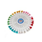 Honeysuck Sewing Pins Craft Pin Wheel Heart Shaped Pins