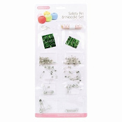 120 Safety Pin & Needle Set Kit Measuring Tape Asst Sizes Sewing Stitching Craft.