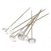 Corsage Creations - 8mm Acrylic Diamond Pins - Clear